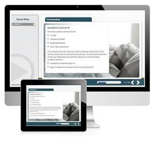 A screenshot of the Coronavirus course on PC and tablet devices.