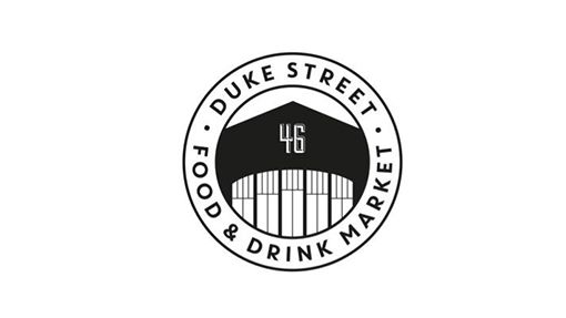 black and white logo forsake street food and drink market in Liverpool