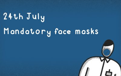 Face masks mandatory from 24th July in shops and takeaways