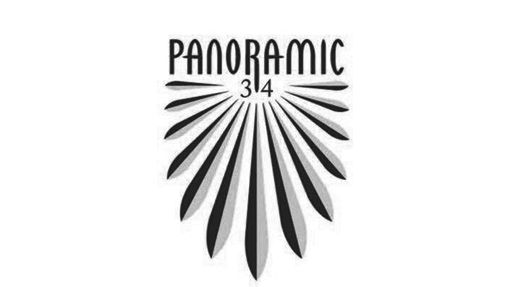black and white logo for panoramic 34 restaurant in Liverpool