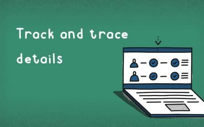 What details are required for track and trace?